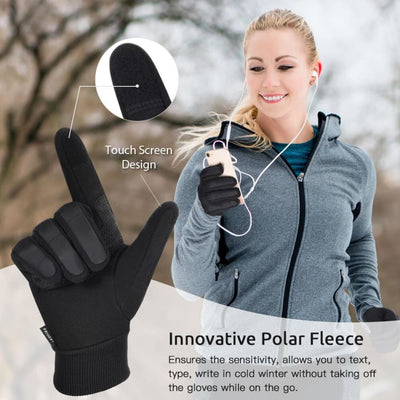 Vbiger Winter Gloves Touch Screen Gloves Anti-slip Cycling Gloves Sport Gloves - Gloves
