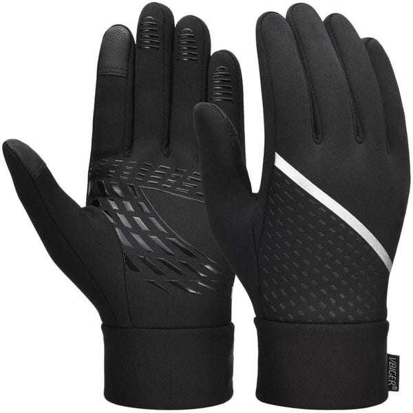 Vbiger Winter Gloves Touch Screen Gloves Cold Weather Gloves with Anti-slip Palm and Thickened Fleece Lining - M - Gloves