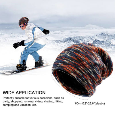 Vbiger Winter Hats Warm Knitted Hat Knitted Beanie Caps Soft Warm Ski Hat for Both Men and Women Red - Hats