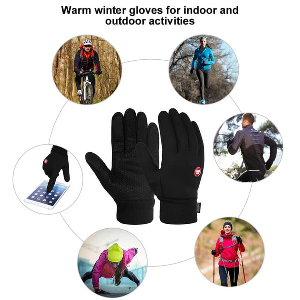 Vbiger Winter Thick Warm Mittens Touch Screen Gloves with Anti-slip Design - Gloves