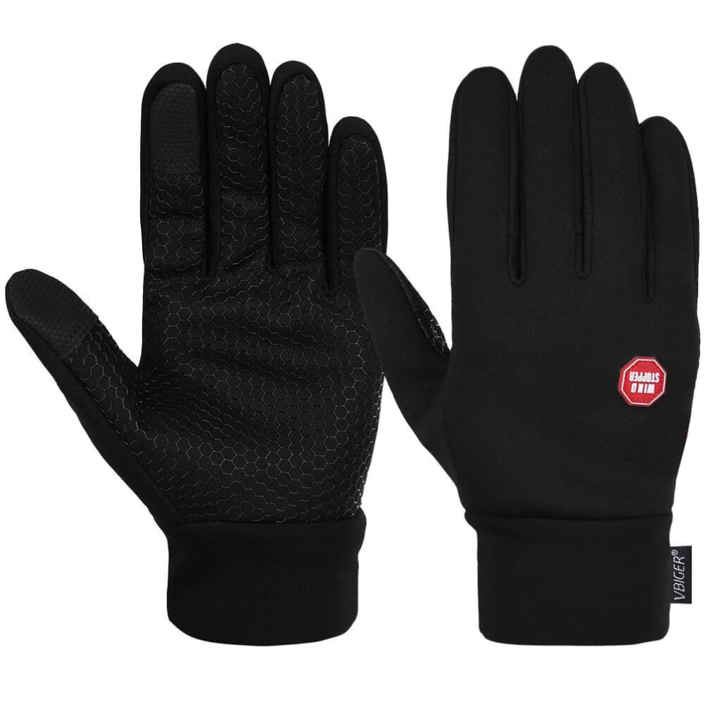 Vbiger Winter Thick Warm Mittens Touch Screen Gloves with Anti-slip Design