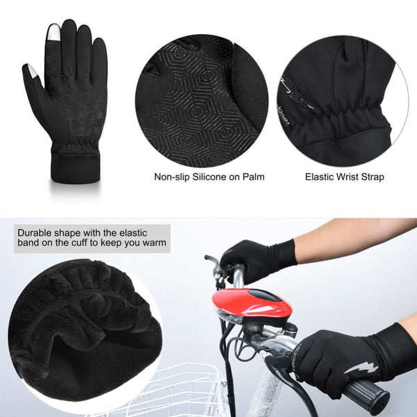 Vbiger Winter Warm Gloves Professional Touch Screen Gloves Winter Sport Gloves for Men and Women - Gloves