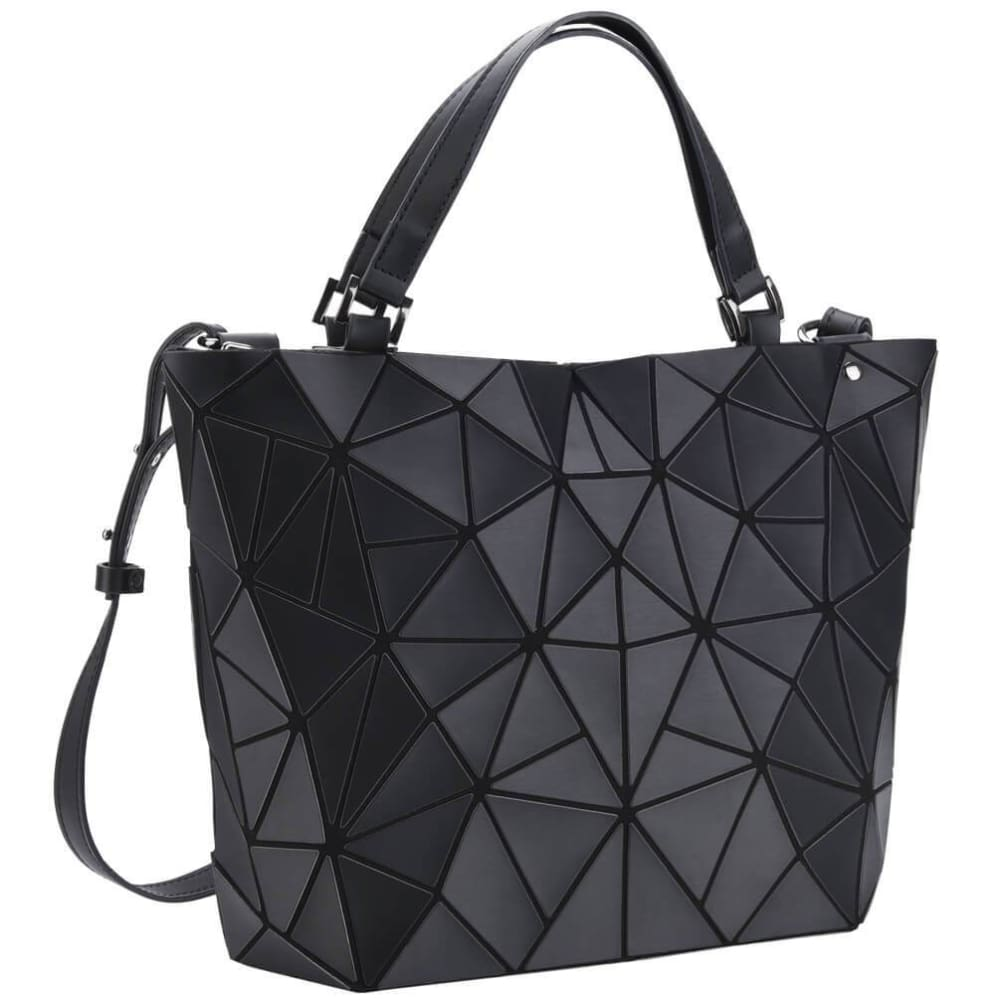 Vbiger Women Geometric Purse Holographic Handbag Lattice Shoulder Bag - Bag
