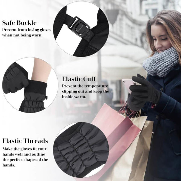 Vbiger Women Gloves Thickened Cold Weather Gloves Touch Screen Gloves - Gloves
