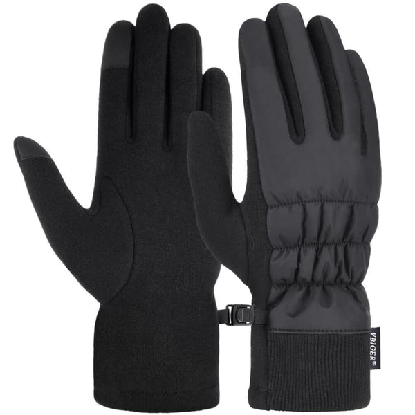 Vbiger Women Gloves Thickened Cold Weather Gloves Touch Screen Gloves - M - Gloves