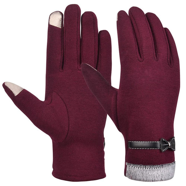 Vbiger Women Winter Warm Gloves Thick Warm Mittens Touch Screen Gloves - Gloves