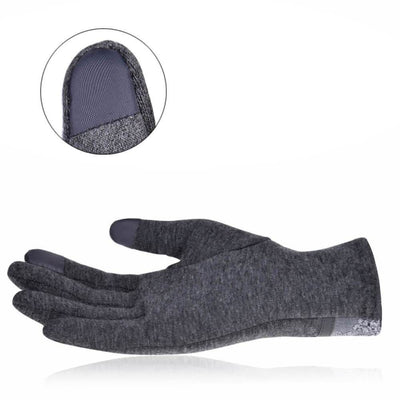 Vbiger Womens Fashionable Flocking Touchscreen Warmer Lace Gloves - Gloves