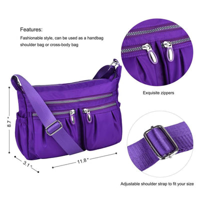 Women Casual Multi Pockets Waterproof Shoulder Bag - Bag
