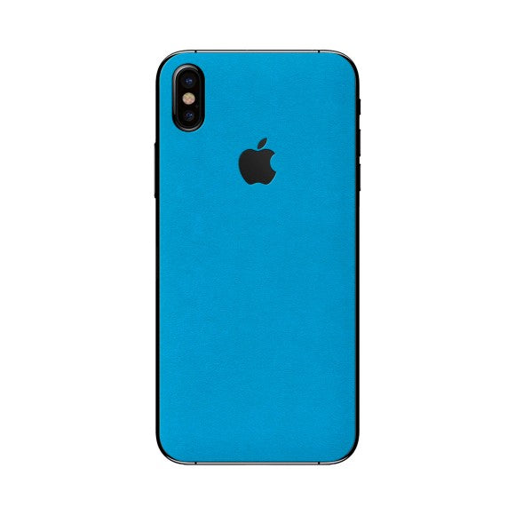 iPhone X ALCANTARA Blue Skin