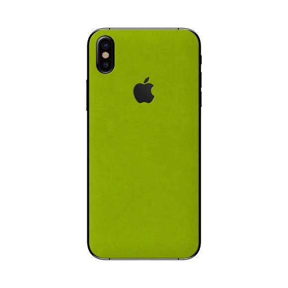 iPhone X ALCANTARA Green Skin