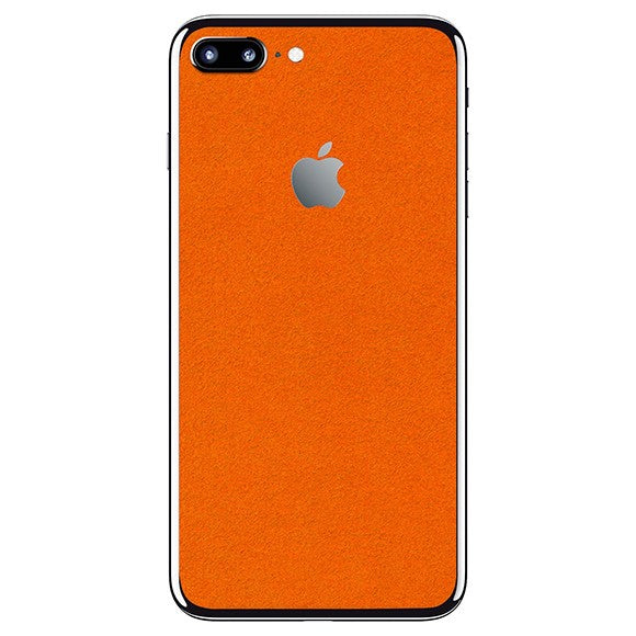 iPhone 8 Plus ALCANTARA Oranje vel