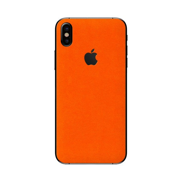 iPhone X ALCANTARA Orange Peau