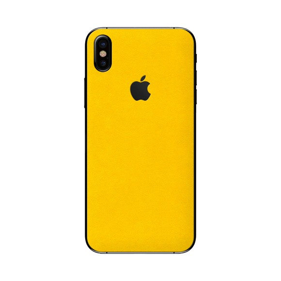 iPhone X ALCANTARA Yellow Skin