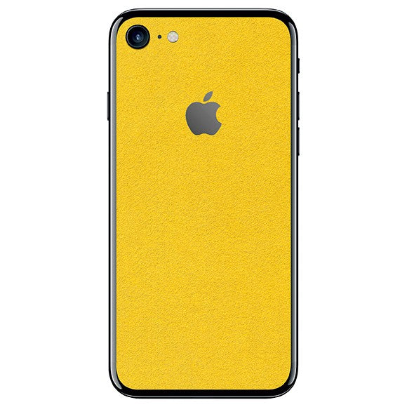 iPhone 7 ALCANTARA Geel Skin