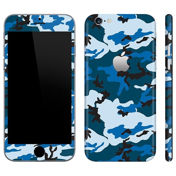 iPhone 6S Plus CAMO Blue Skin