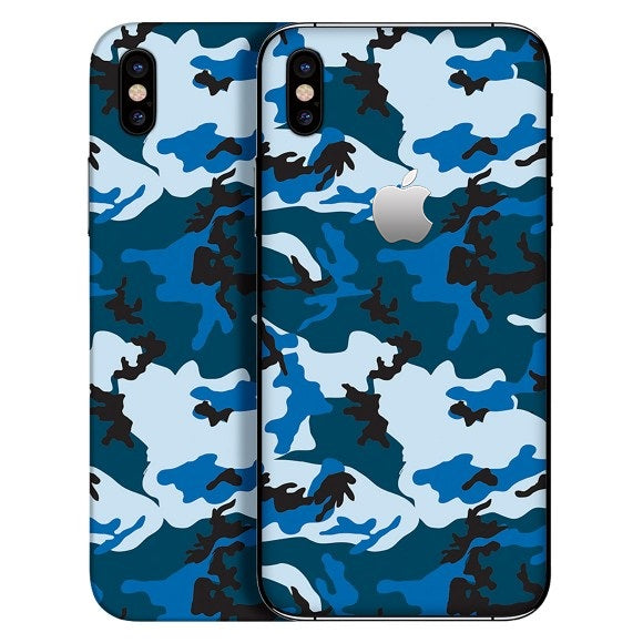 iPhone X CAMO Blue Skin