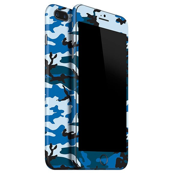 Skin Azul CAMO para 8 Plus de iPhone