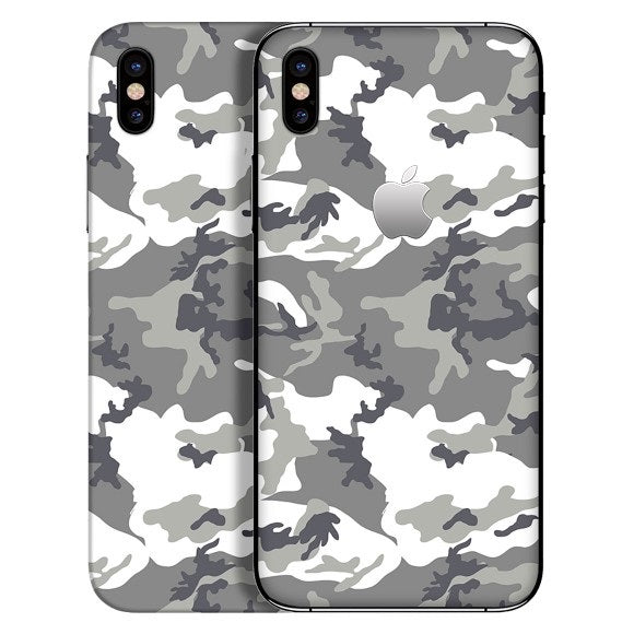 iPhone X CAMO Grey Skin