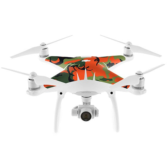 DJI Phantom 4 CAMO Green & Orange Skin