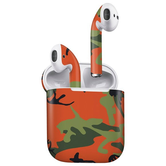 AirPods CAMO Green & Orange Skin