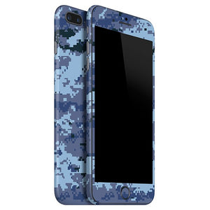 iPhone 7 Plus CAMO Pixel Blue Skin