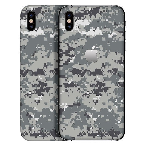 iPhone X CAMO Pixel Grey Skin