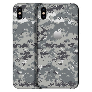 iPhone X CAMO Pixel Gray Skin