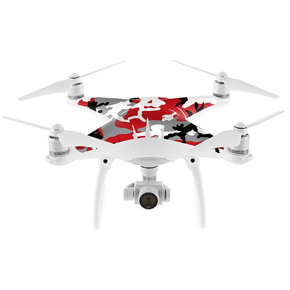 DJI Phantom 4 CAMO Red Skin