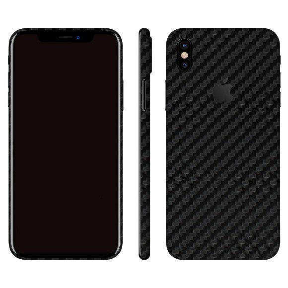 iPhone X CARBON Black Skin