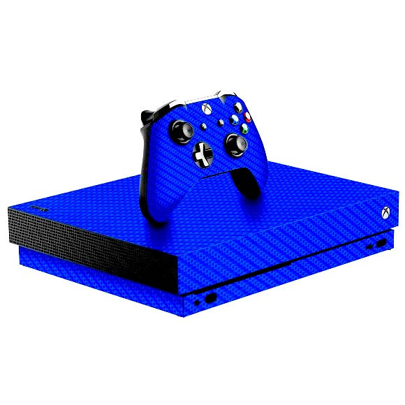 Xbox One X CARBON Blue Skin