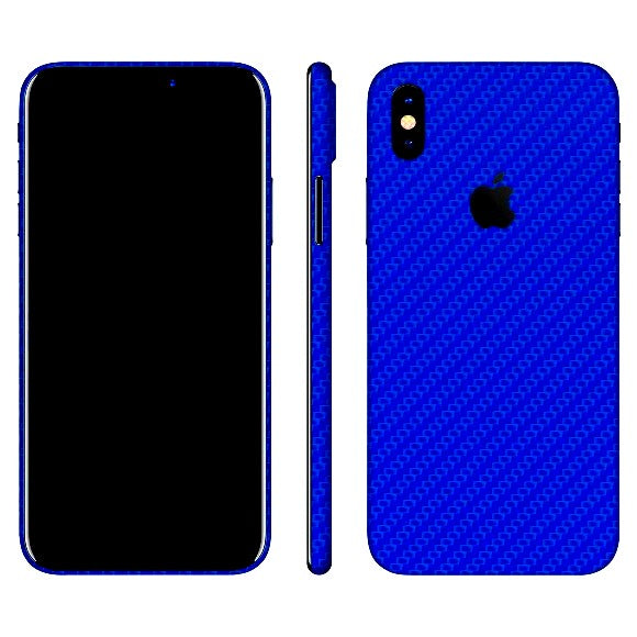 iPhone X CARBON Bleu Peau