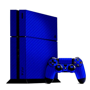 PlayStation 4 CARBON Blue Skin
