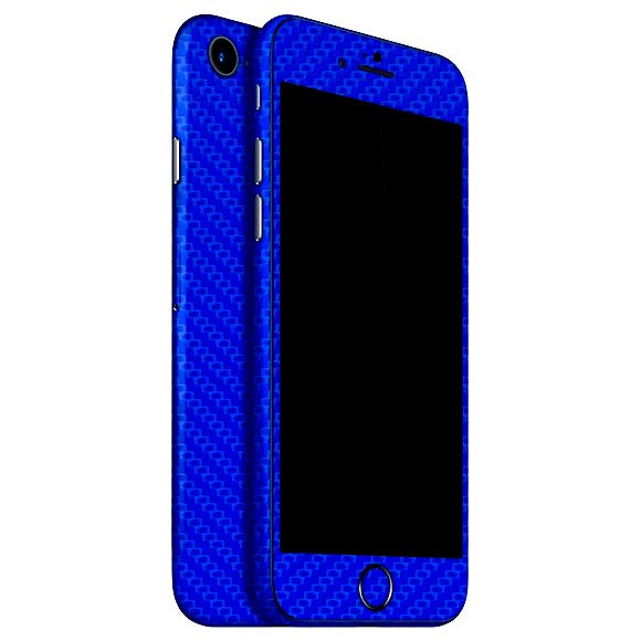 iPhone 8 CARBON Blue Skin
