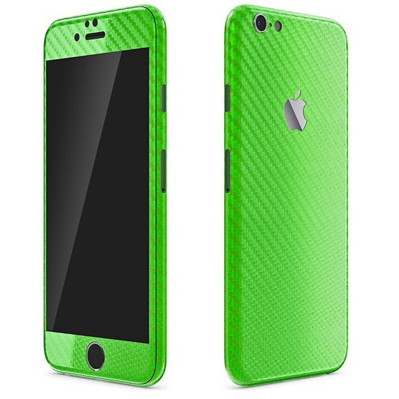 iPhone 6S Plus CARBON Green Skin
