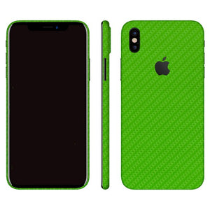 iPhone X CARBON Green Skin