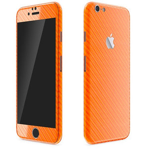 Skin Naranja CARBONO para iPhone 6S Plus