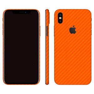 iPhone X CARBON Orange Skin