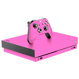 Xbox One X CARBON Pink Skin