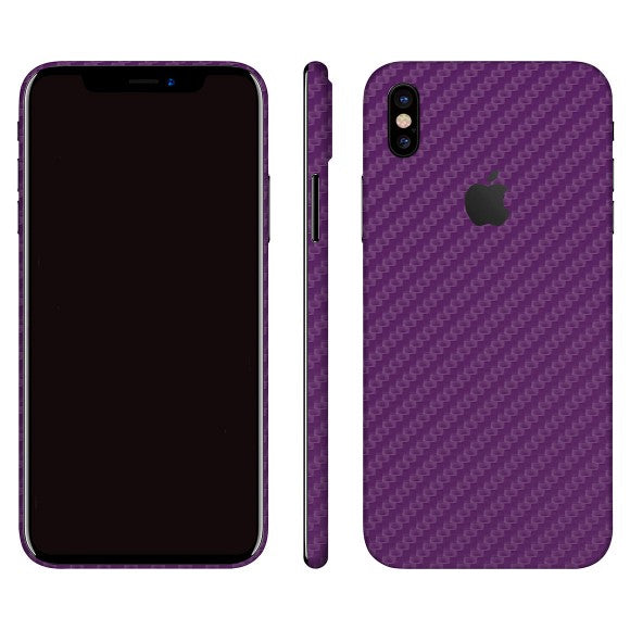 iPhone X CARBON Lila Skin