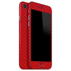 iPhone 8 CARBON Red Skin
