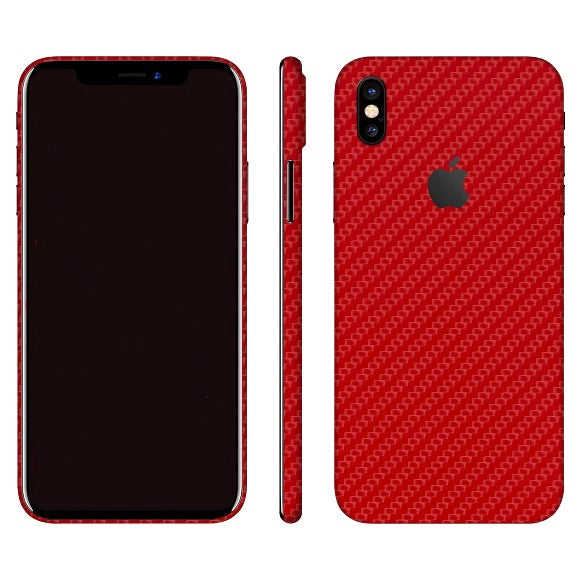 iPhone X CARBON Red Skin