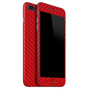 iPhone 8 Plus CARBON Red Skin