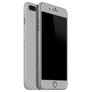 iPhone 7 Plus CARBON Silver Skin