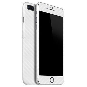 iPhone 7 Plus CARBON White Skin