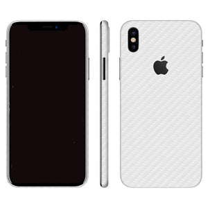 iPhone X CARBON White Skin