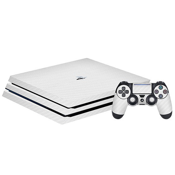 PlayStation 4 Slim CARBON White Skin
