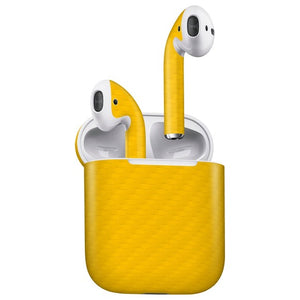 AirPods CARBON Yellow Skin