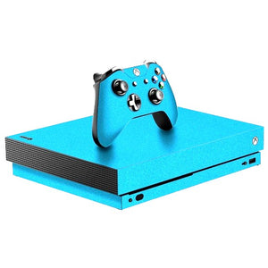 Xbox One X DIAMOND Blou Skin