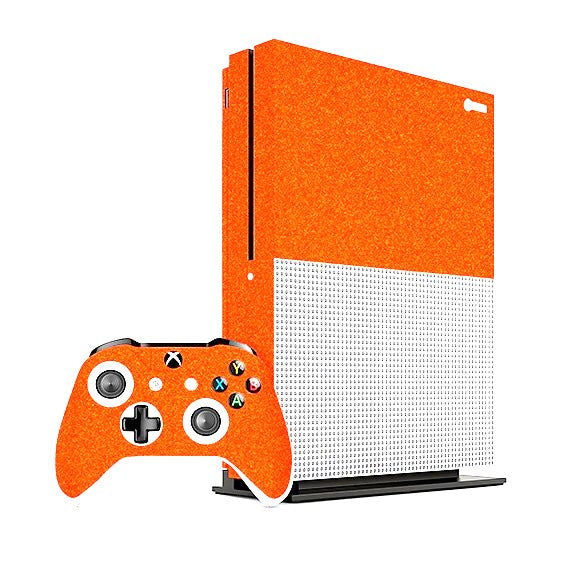 Xbox One S DIAMOND Orange Skin