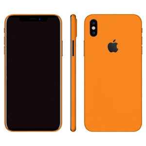 iPhone X GLOSS Orange Skin